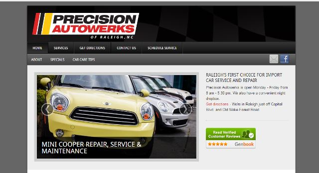 click to view www.precisionautowerks.com in a   new tab